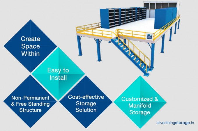 Expand your material storage space with mezzanine floor system